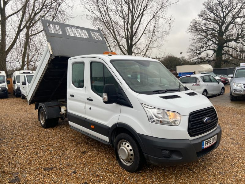 Used FORD TRANSIT 350 L3 DCB C/C DRW in Hampshire for sale